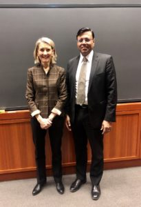 Sandeep Kishore with Professor Amy Edmondson